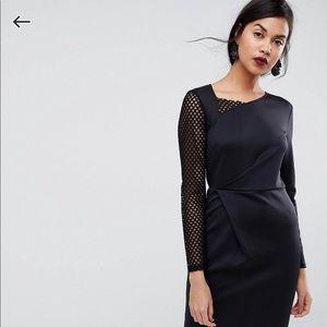 ASOS long sleeve midi dress